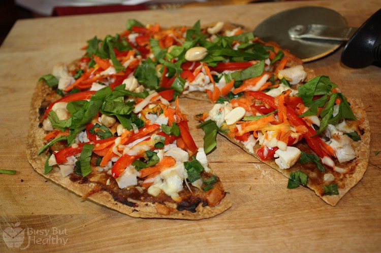 Healthy Chicken Pizza  Thai Chicken Pizza Busy But Healthy