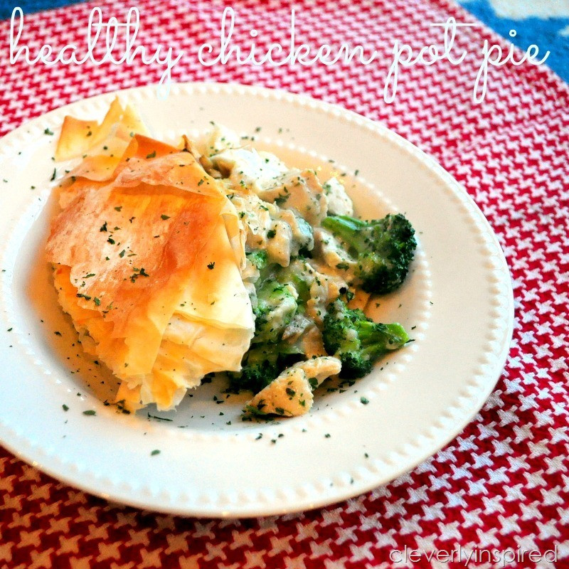 Healthy Chicken Pot Pie  Healthy Chicken Pot Pie Recipe Cleverly Inspired