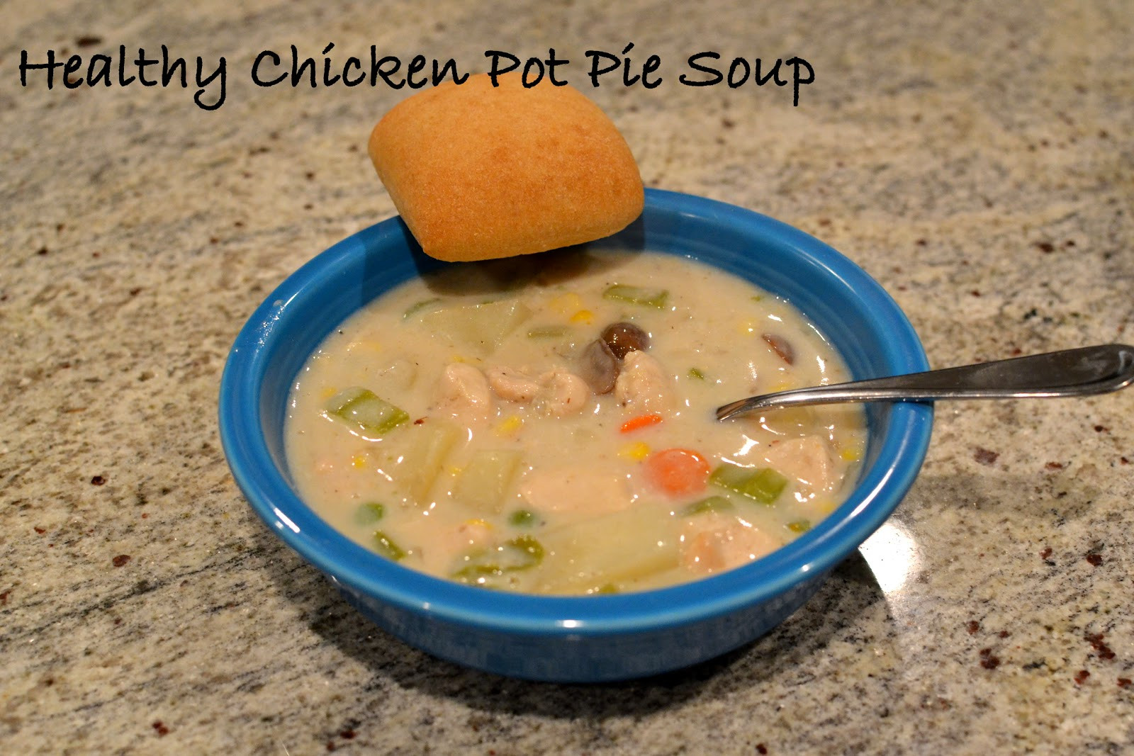 Healthy Chicken Pot Pie Soup  Healthy Chicken Pot Pie Soup LaForce Be With You