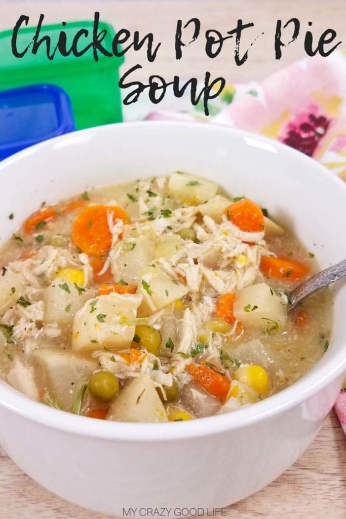 Healthy Chicken Pot Pie Soup  Healthy Chicken Pot Pie Soup Instant Pot