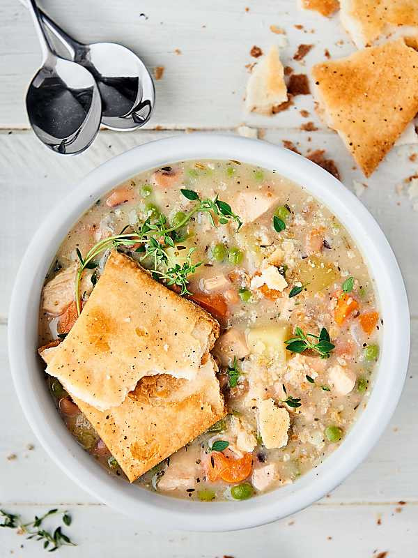 Healthy Chicken Pot Pie Soup  Healthy Turkey Pot Pie Soup Recipe Easy Way to Use
