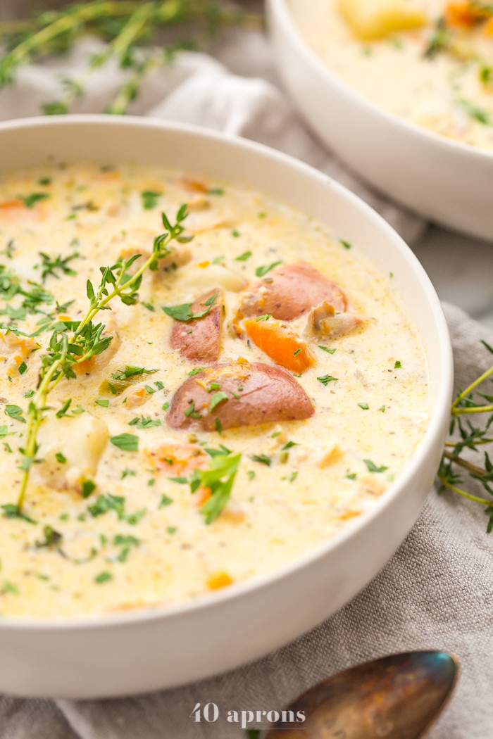 Healthy Chicken Pot Pie Soup  Instant Pot Healthy Chicken Pot Pie Soup Paleo Whole30