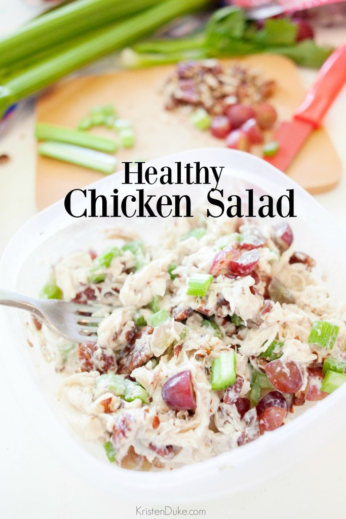 Healthy Chicken Salad  Healthy Chicken Salad Recipe Capturing Joy with Kristen Duke