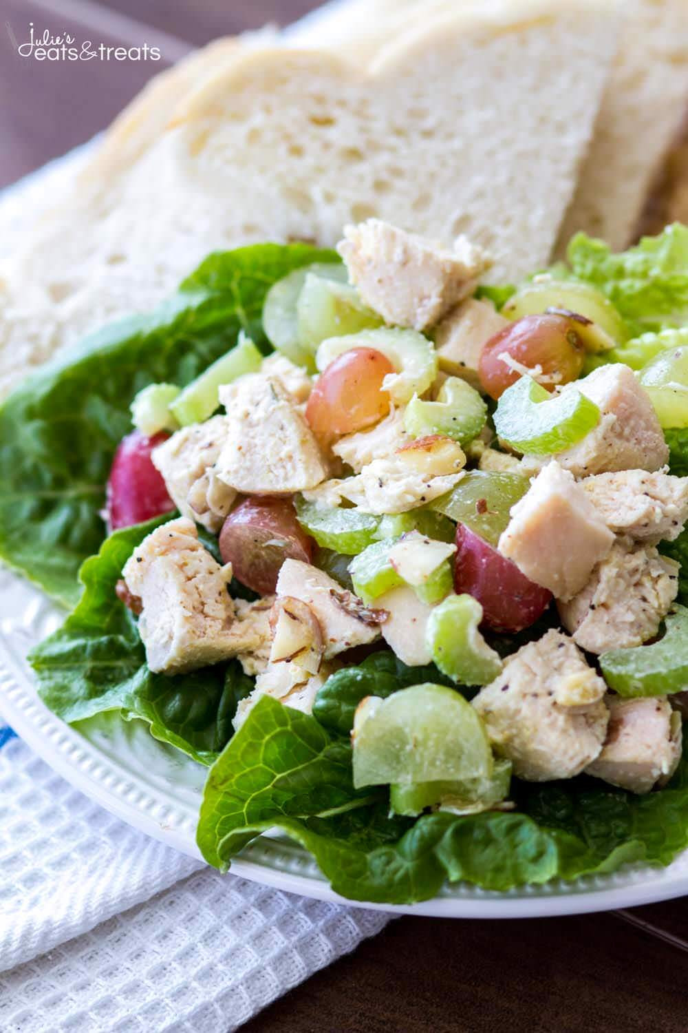 Healthy Chicken Salad Recipe Easy  Light and Healthy Chicken Salad Recipe Julie s Eats & Treats