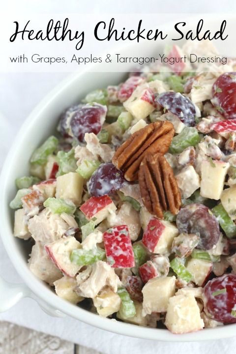 Healthy Chicken Salad Recipe Easy  25 best ideas about Chicken salad with grapes on