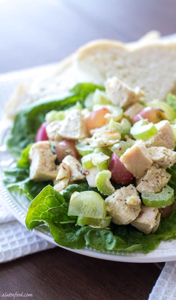 Healthy Chicken Salad Recipe Easy  Light and Healthy Chicken Salad Recipe A Latte Food