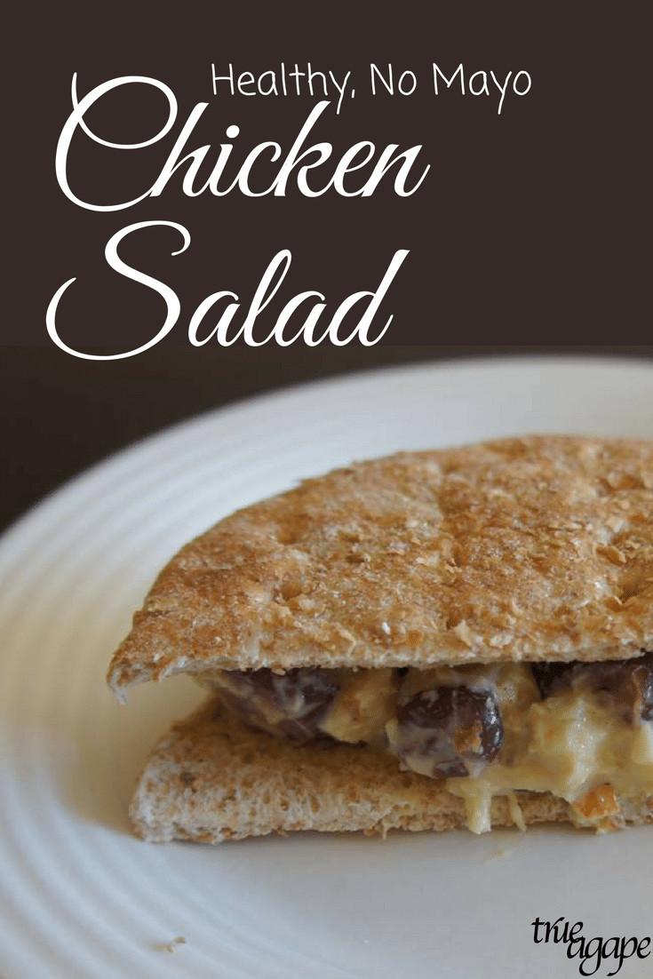 Healthy Chicken Salad Recipe No Mayo  Healthy No Mayo Chicken Salad Recipe