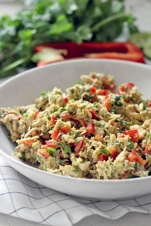 Healthy Chicken Salad Recipe No Mayo  Fiesta Chicken Salad No Mayo Dairy Free