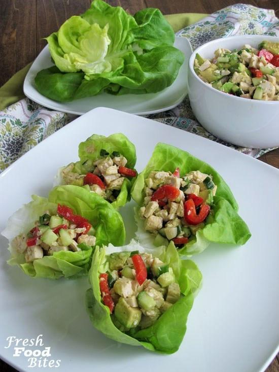 Healthy Chicken Salad Recipe No Mayo  No Mayo Avocado Chicken Salad Fresh Food Bites