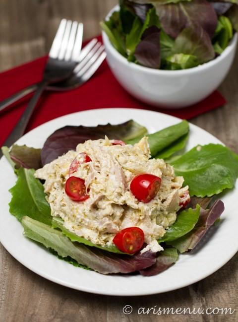 Healthy Chicken Salad Recipe No Mayo  pesto chicken salad no mayo