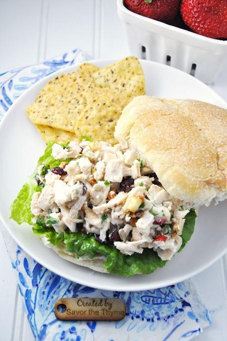 Healthy Chicken Salad Sandwich  Crunchy & Healthy Chicken Salad Sandwich Recipe with Salad