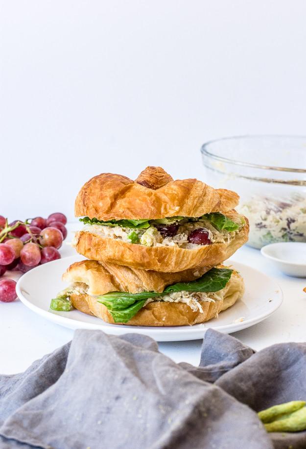 Healthy Chicken Salad Sandwich  healthy chicken salad sandwich recipe no mayo