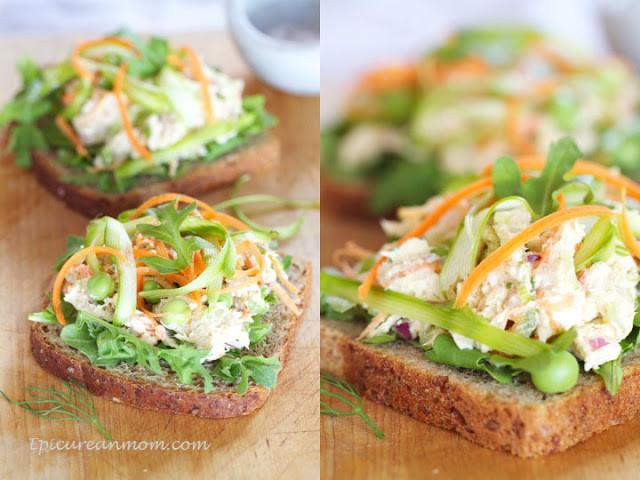 Healthy Chicken Salad Sandwich  Epicurean Mom Healthy Chicken Salad Sandwich Recipe