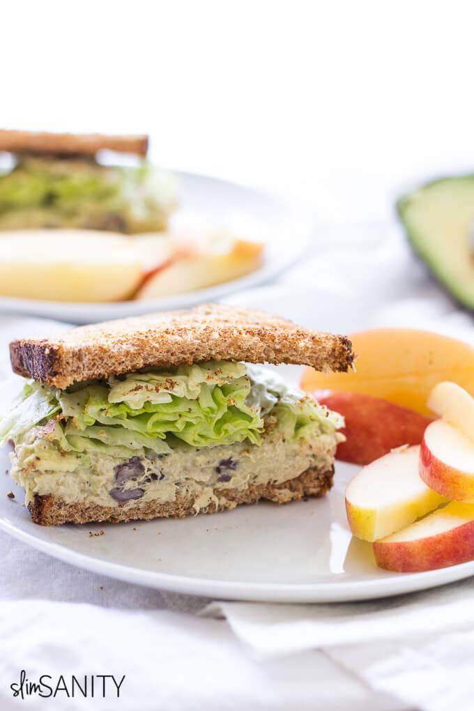 Healthy Chicken Salad Sandwich  Healthy Chicken Salad Sandwich Slim Sanity