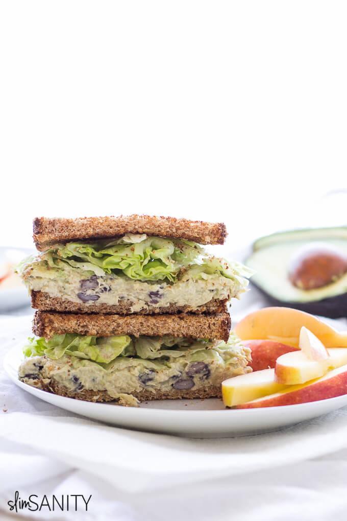 Healthy Chicken Salad Sandwich Recipe  Healthy Chicken Salad Sandwich Slim Sanity