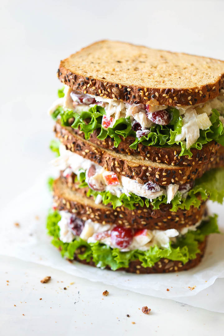 Healthy Chicken Salad Sandwich  50 Healthy Lunches That Will Get You Through The Work Day