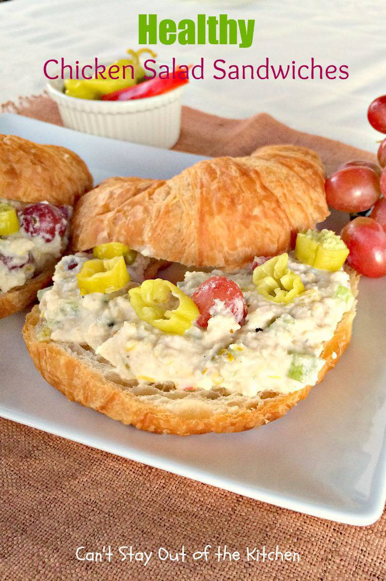 Healthy Chicken Salad Sandwich  Healthy Chicken Salad Sandwiches Can t Stay Out of the