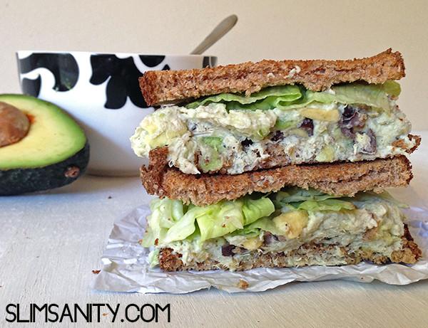 Healthy Chicken Salad Sandwich  HEALTHY CHICKEN SALAD SANDWICH