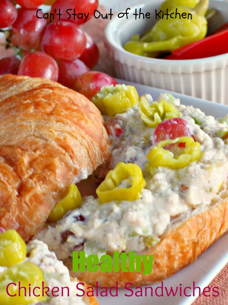 Healthy Chicken Salad Sandwich  Chicken Salad Sandwiches Can t Stay Out of the Kitchen