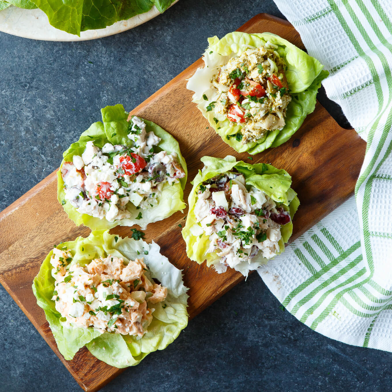 Healthy Chicken Salad  Four Healthy Chicken Salad Lettuce Wraps d Appetite
