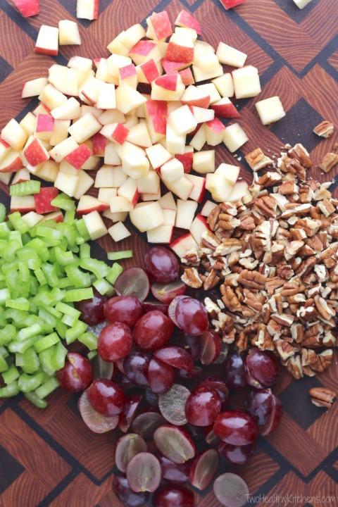 Healthy Chicken Salad With Grapes  Healthy Chicken Salad with Grapes Apples and Tarragon