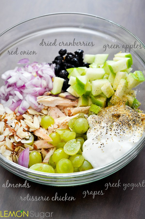 Healthy Chicken Salad With Grapes  chicken salad recipe with grapes and apples and almonds