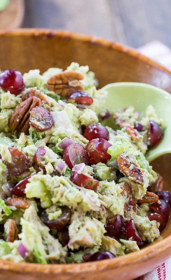 Healthy Chicken Salad With Grapes  Best 25 Avocado chicken salads ideas on Pinterest