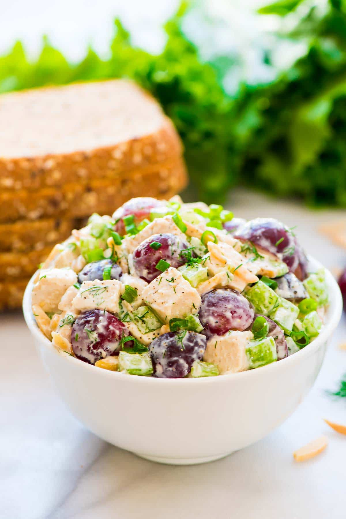 Healthy Chicken Salad With Grapes  Greek Yogurt Chicken Salad with Dill