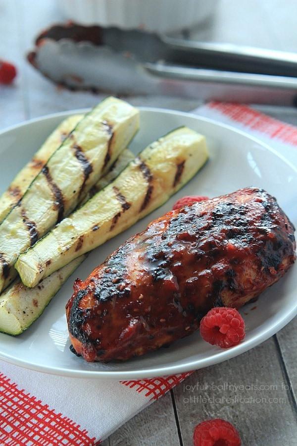 Healthy Chicken Sauces  Grilled Chicken With Raspberry Chipotle BBQ Sauce