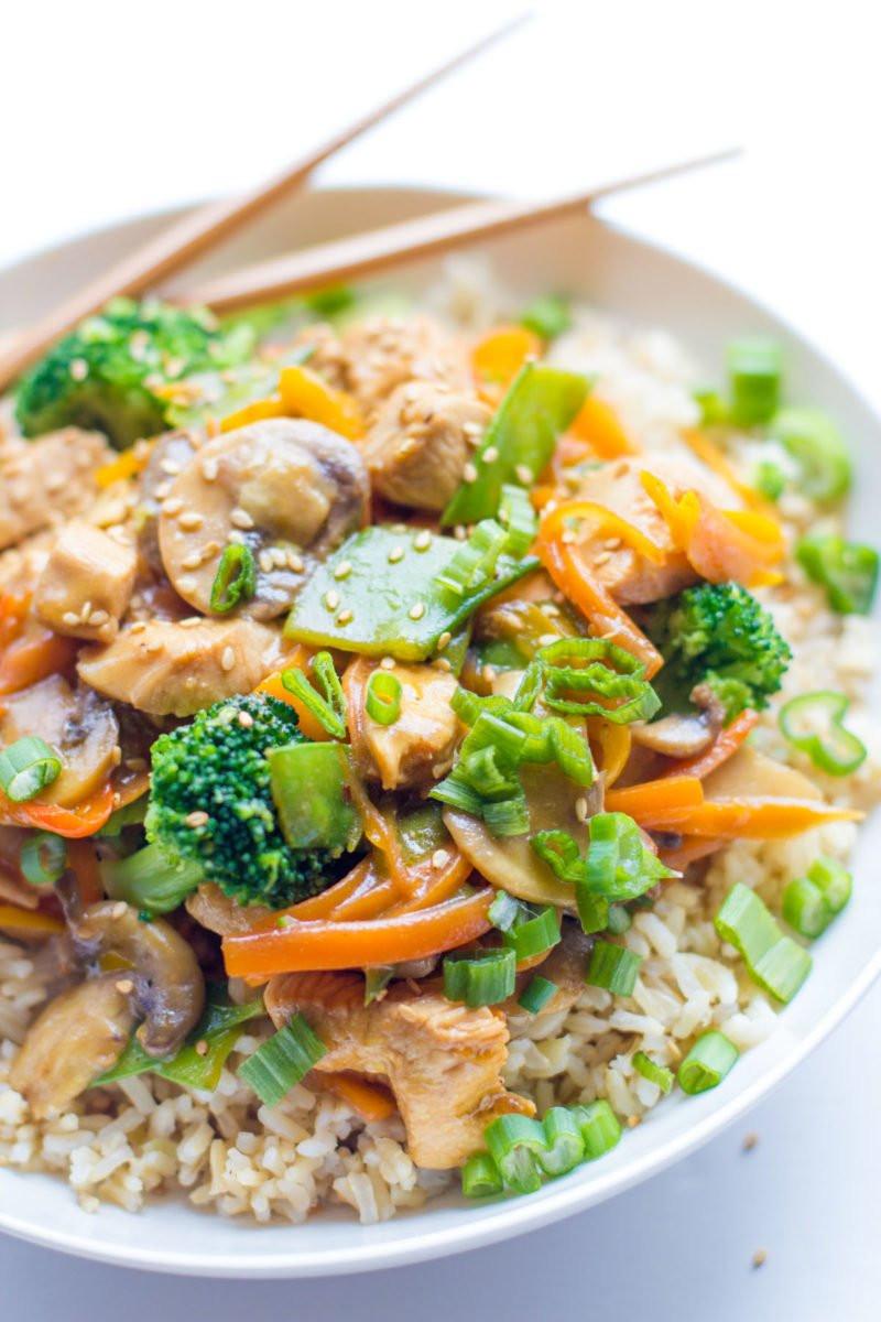 Healthy Chicken Sauces  rice stir fry sauce