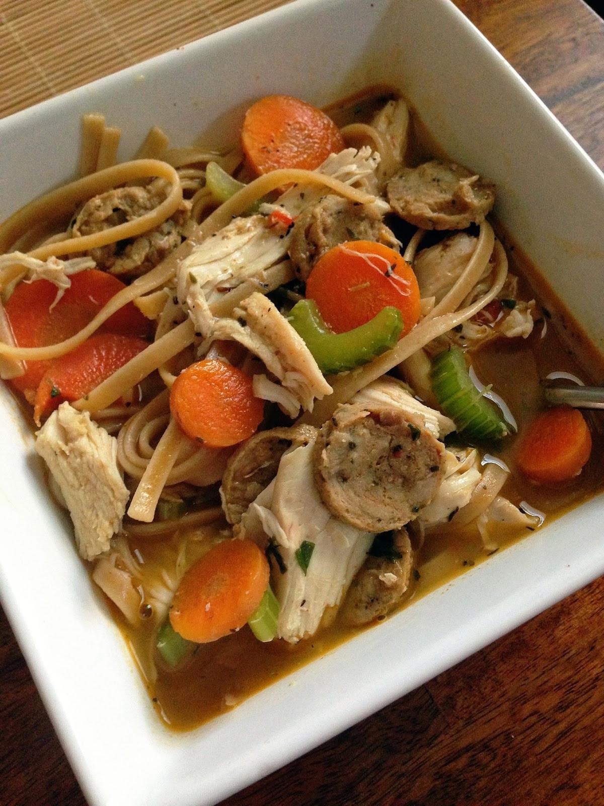 Healthy Chicken Soup  taylor made clean & healthy spicy cajun chicken noodle soup