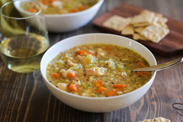 Healthy Chicken Soup Crock Pot  Crock Pot Chicken and Rice Soup The Roasted Root