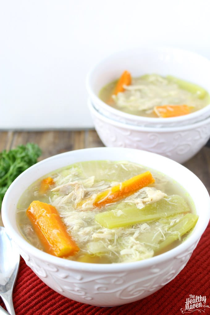 Healthy Chicken Soup Slow Cooker  Slow Cooker Chicken Soup The Healthy Maven