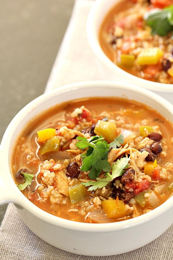 Healthy Chicken Soup Slow Cooker  Slow Cooker Healthy Chicken Fajita Soup