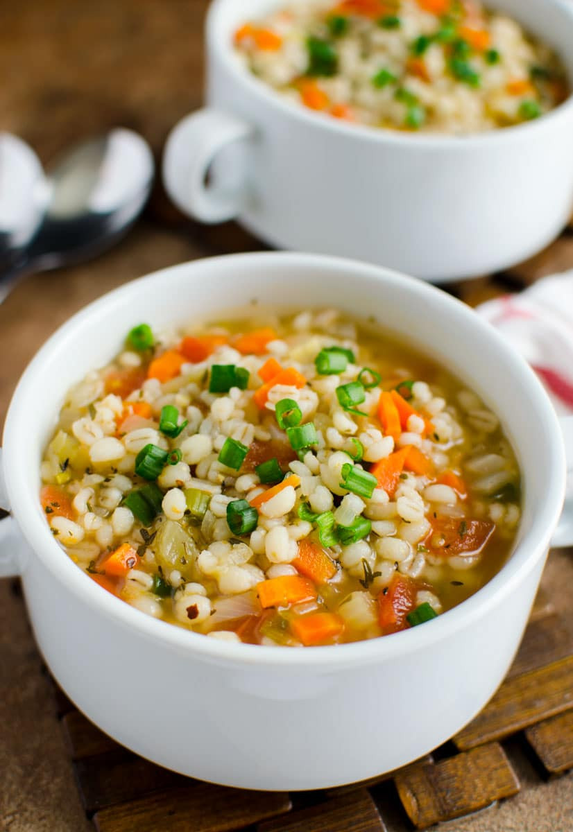 Healthy Chicken Soup  Hearty Healthy Chicken and Barley soup