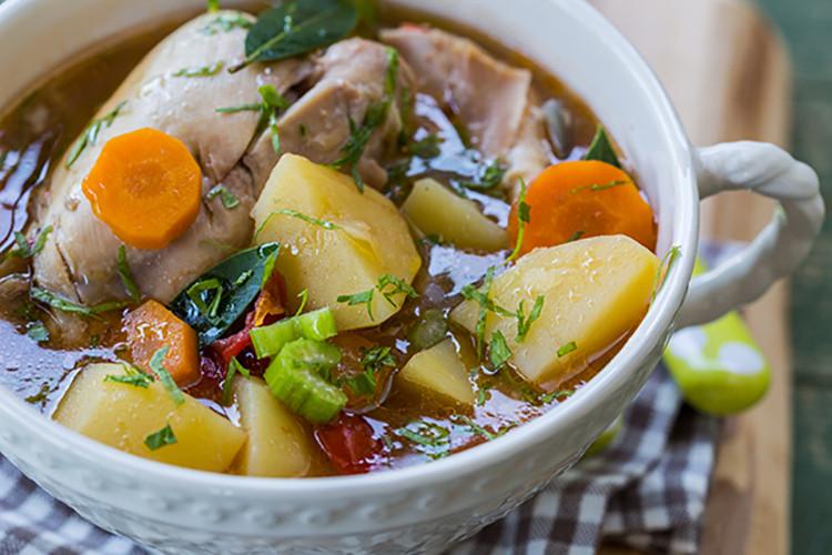 Healthy Chicken Stew Crock Pot  Crock Pot Rustic Chicken Stew