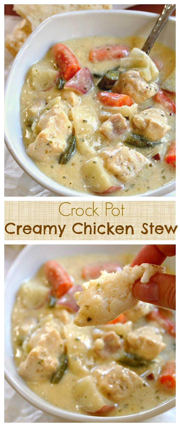Healthy Chicken Stew Crock Pot Recipe  1000 ideas about Healthy Crock Pot Meals on Pinterest
