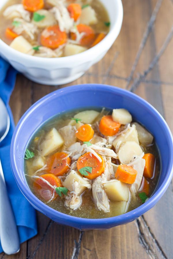 Healthy Chicken Stew Crock Pot Recipe  healthy chicken stew with ve ables