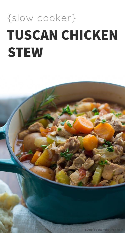 Healthy Chicken Stew Crock Pot Recipe  Slow Cooker Tuscan Chicken Stew Instant Pot Instructions