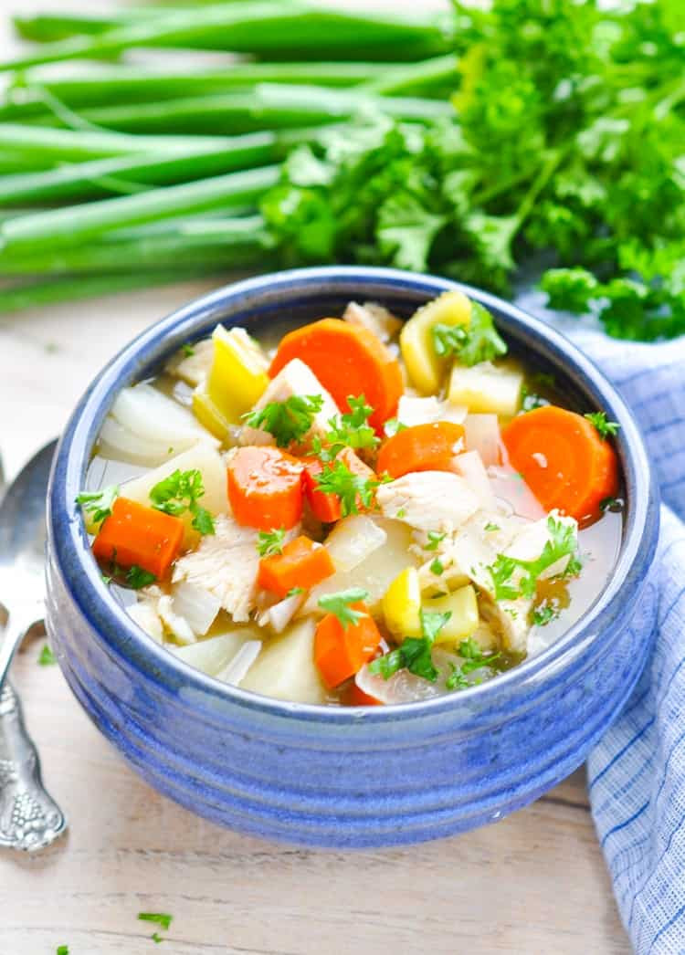 Healthy Chicken Stew Slow Cooker  Healthy Slow Cooker Chicken Stew The Seasoned Mom