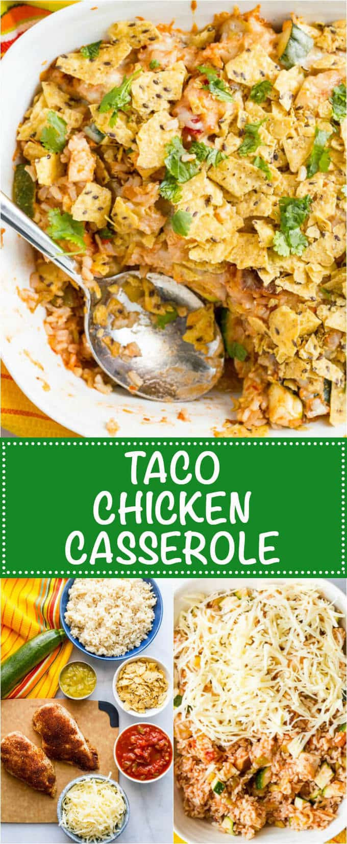 Healthy Chicken Taco Casserole  Healthy chicken taco casserole Family Food on the Table