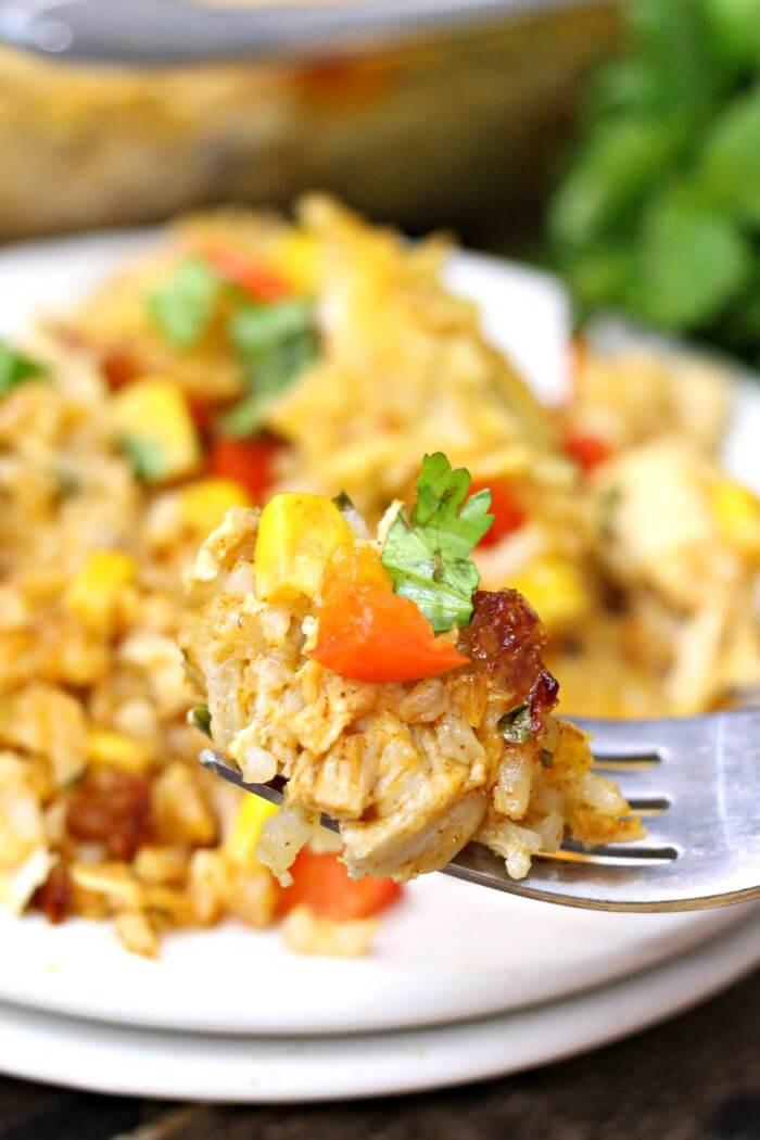 Healthy Chicken Taco Casserole  Easy Chicken Taco Casserole Recipe Mama Loves Food