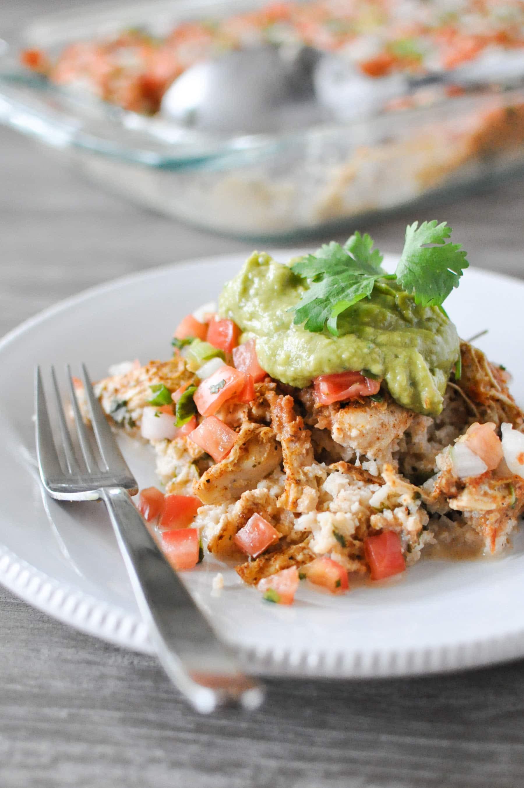 Healthy Chicken Taco Casserole  Chicken Taco Casserole Fed & Fit