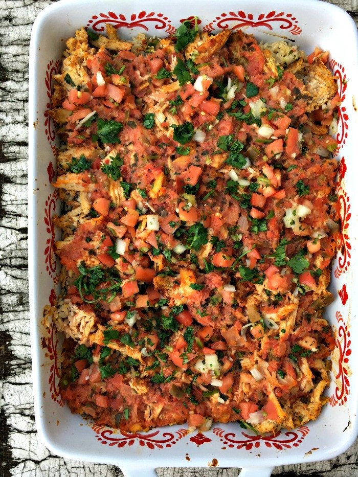 Healthy Chicken Taco Casserole  Healthy chicken taco casserole A Life From Scratch