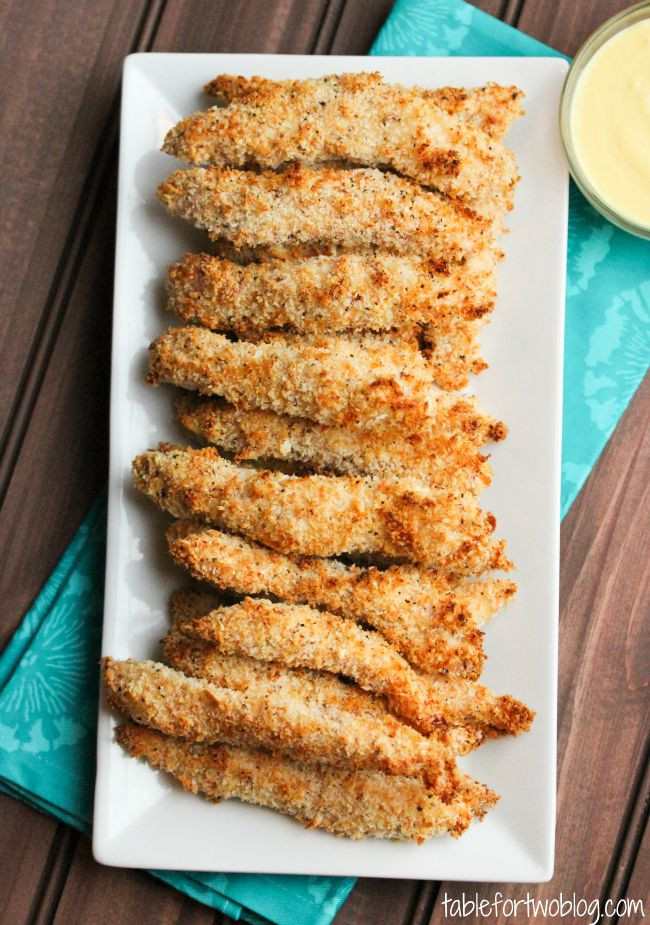 Healthy Chicken Tenders Panko  Baked Chicken Fingers Table for Two nko Bake