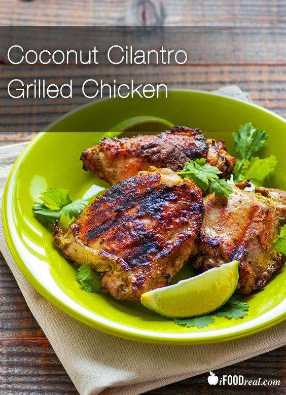 Healthy Chicken Thighs  Coconut Cilantro Grilled Chicken Recipe