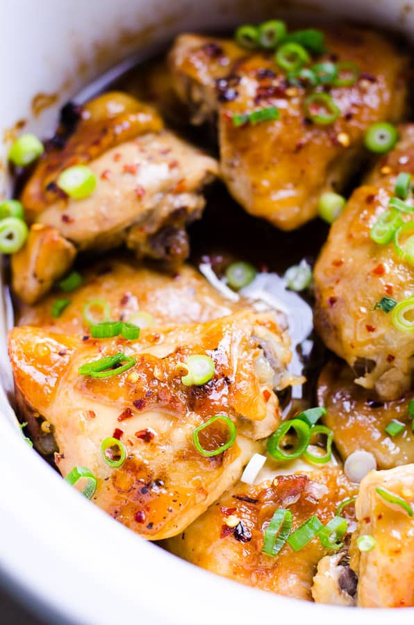 Healthy Chicken Thighs  Slow Cooker Thai Chicken Thighs iFOODreal Healthy