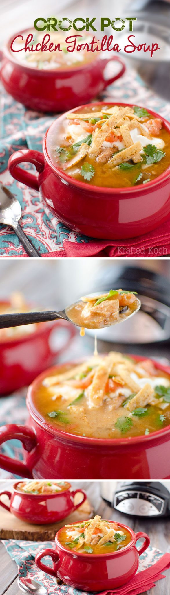 Healthy Chicken Tortilla Soup Crock Pot  Crock Pot Chicken Tortilla Soup