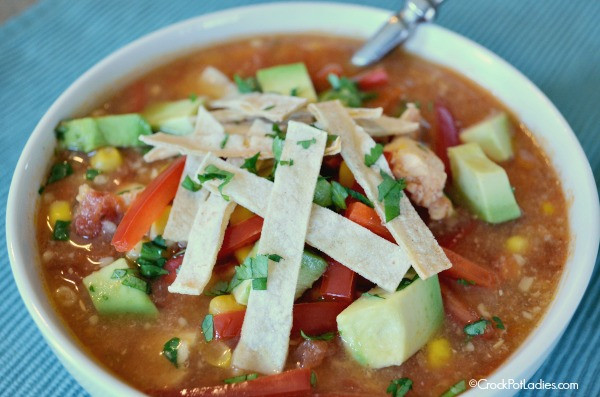 Healthy Chicken Tortilla Soup Crock Pot  Crock Pot Healthy Chicken Tortilla Soup Crock Pot La s