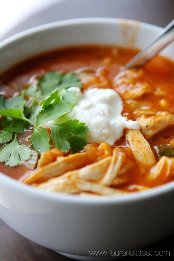 Healthy Chicken Tortilla Soup Recipe  Easy Chicken Tortilla Soup Lauren s Latest